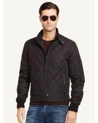 Ralph Lauren Black Label Quilted Moto Jacket - Lyst