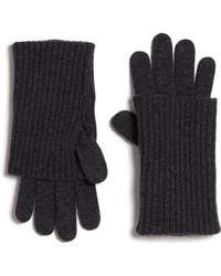 Rag & Bone Cece Wool Gloves gray - Lyst