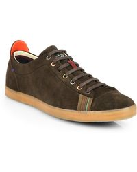 Paul Smith Vestri Suede Lace-Up Sneakers - Lyst