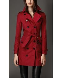Burberry Gabardine Trench Coat With Check Cashmere Undercollar - Lyst