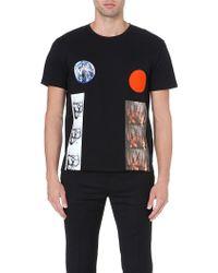 Raf Simons Planet Circle Tshirt Black - Lyst