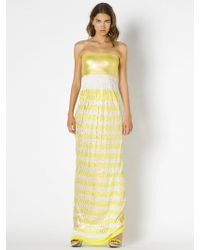 Patrizia Pepe Long Striped Dress In Viscose Jersey - Lyst