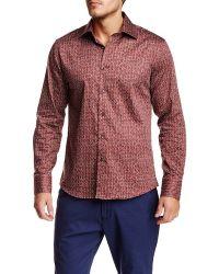 T.R. Premium - Long Sleeve Button Down Printed Dress Shirt - Lyst