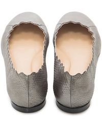 Chloé | Ayers Cosmo Leather Ballet Flats | Lyst