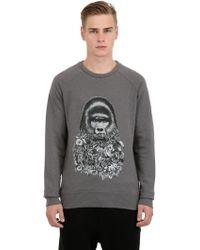 Ami Alexandre Mattiussi Printed Cotton Blend Sweatshirt - Lyst