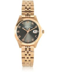 Marc By Marc Jacobs The Slim Bracelet 30Mm Rose Gold Tone Stainless Steel Women'S Watch - Lyst