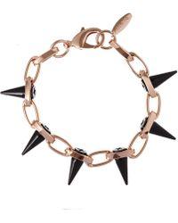 Joomi Lim Rose Goldtone Single Row Black Out Bracelet
