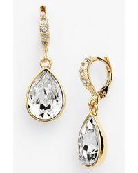 Givenchy Women'S Small Teardrop Earrings - Gold/ Clear - Lyst