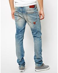 Pepe Heritage - Jeans Buzz Skinny Fit Dirt Repaired - Lyst