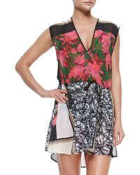 Clover Canyon Mixed-Print Drawstring-Waist Coverup - Lyst