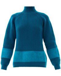 Jil Sander Ribbed-Knit Wool Sweater - Lyst