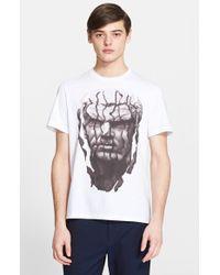 Neil Barrett Men'S 'Sliced Antiquity' Graphic T-Shirt - Lyst