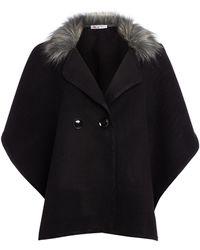 Wal-G   Wide Sleeve Fur Trim Jacket   Lyst
