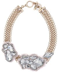 Sam Edelman Gold Tone and Stone Cluster Collar Necklace - Lyst