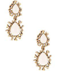 Oscar de la Renta Coral Branch Drop Earrings - Lyst