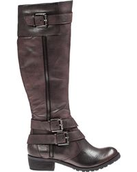 Andre Assous Roberta Riding Boot Bordeaux Leather - Lyst