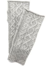 Club Monaco Lena Cashmere Cable Gloves - Grey - Lyst