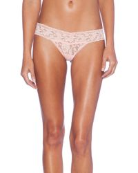Hanky Panky Signature Lace Petite Low Rise Thong - Lyst