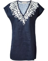 Tory Burch Issy Embroidered Tunic - Lyst