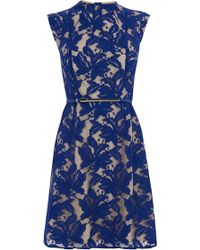 Oasis Erin Lace Shift Dress blue - Lyst