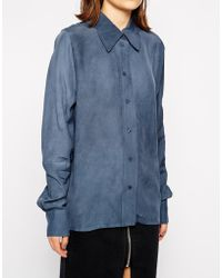 WOOD WOOD Damia Shirt With Long Sleeves - Lyst