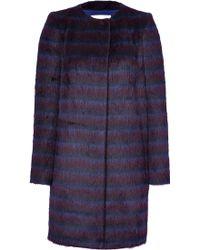Vionnet Alpaca-Wool Striped Coat - Lyst