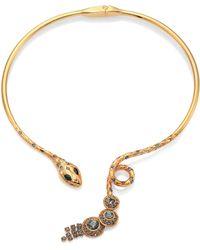 House of Lavande - Serpent Crystal Snake Choker Necklace - Lyst