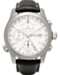 Kingsman - + Bremont Alt1-wt/wh World Timer Stainless Steel And Leather Automatic Chronograph Watch - Lyst