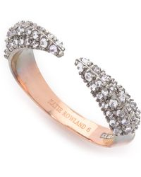 Katie Rowland | Studded Claw Stacker Ring - Lavender/rose Gold | Lyst