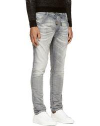 Diesel Grey Faded Krooley_Ne Jogg Jeans - Lyst