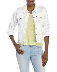 Levi's White Trucker Jacket white - Lyst
