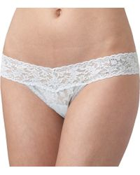 """Hanky Panky I Do"""" Low Rise Thong beige - Lyst"""