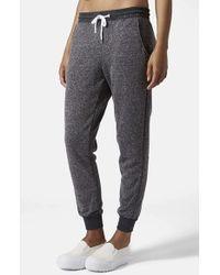 Topshop Nep Jogger Pants gray - Lyst