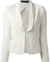 Christian Pellizzari Fitted Jacket - Lyst