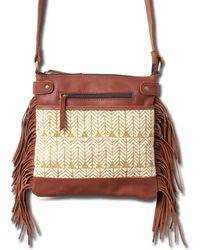 Joyn - Mustard Bay Fringe Leather Bag - Lyst