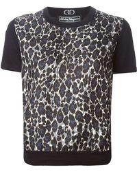 Ferragamo Leopard Print Top - Lyst