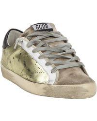 Golden Goose Deluxe Brand Distressed Superstar Sneakers - Lyst