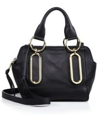 See By Chloé Paige Leather Mini Satchel black - Lyst