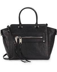 Milly Riley Leather Tote Bag - Lyst
