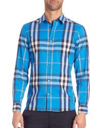 Burberry Brit | Nelson Check Woven Sportshirt | Lyst
