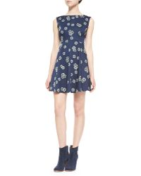 French Connection Eddy Floral Fit & Flare Dress - Lyst