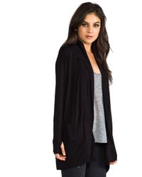Dolan - Long Sleeve Oversize Cardigan in Black - Lyst