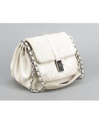 Chanel Preowned Ivory Caviar Accordion Reissue Flap - Lyst