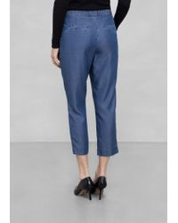 & Other Stories - Cropped Tencel Trousers - Lyst