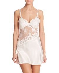 In Bloom Asymmetrical Lace Chemise - Lyst