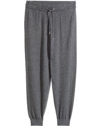 H&M Gray  Fine-knit Joggers - Lyst