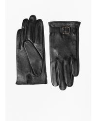 & Other Stories - Buckle Detail Leather Gloves - Lyst