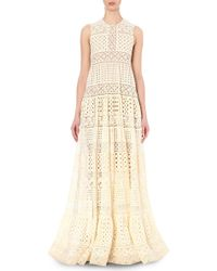 Elie Saab | Tiered Floral-lace Gown | Lyst