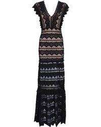 Nightcap | black Sleeveless Deep V Neck Sierra Lace Gown | Lyst