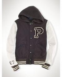 "Polo Ralph Lauren P"" Hooded Varsity Jacket - Lyst"